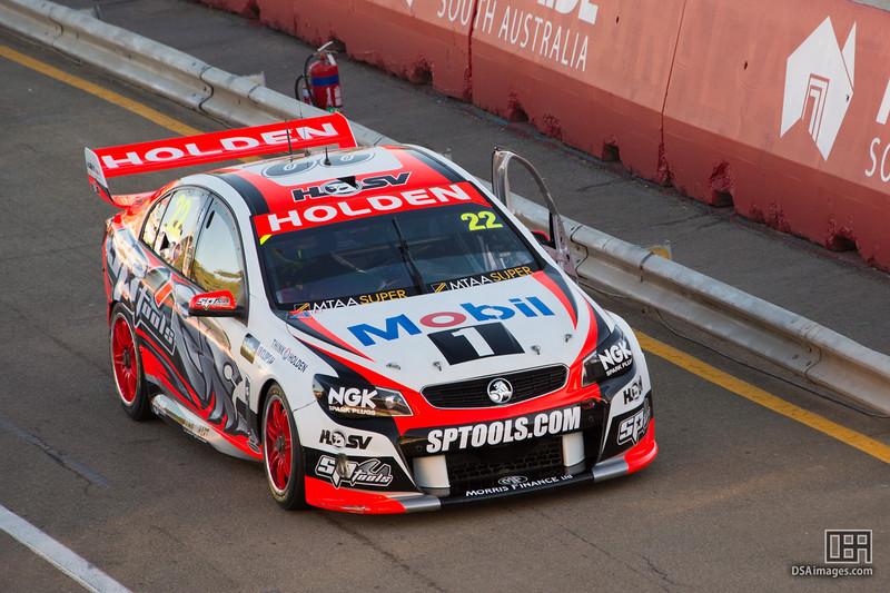 James Courtney with race damage