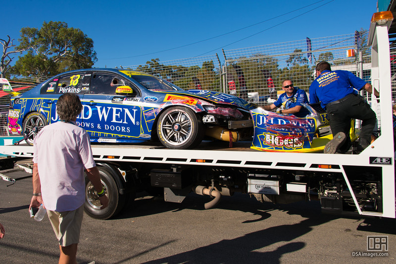 Jack Perkins' car at the end of race 3