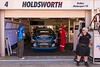 Betty Klimenko in front of Lee Holdsworth's pit