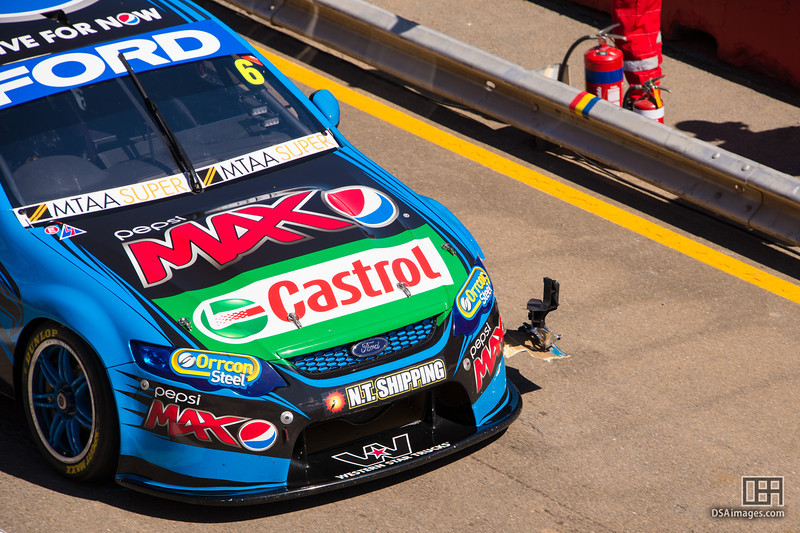 Chaz Mostert with car damage