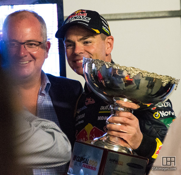 Craig Lowndes after winning race 2