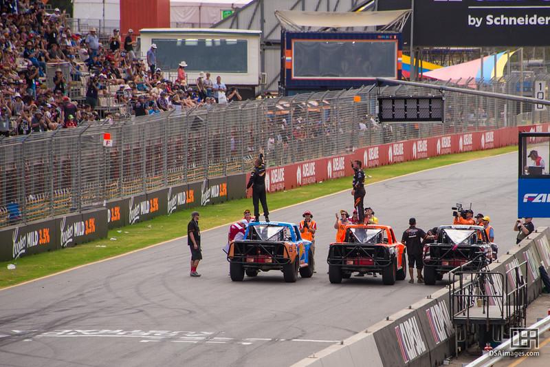 Winners of the Stadium Super Trucks race 2