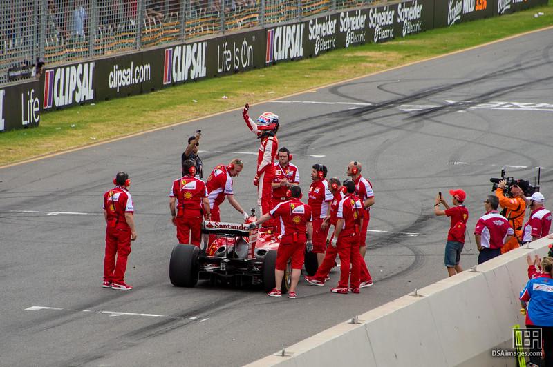 Jean-Eric Vergne driving the 2009 F60 Ferrari Formula 1 car