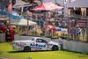 Charlie Kovacs (SA) crashed out of the Australian V8 Ute Racing