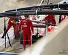Kimi Räikkönen's engine on fire (Ferrari)
