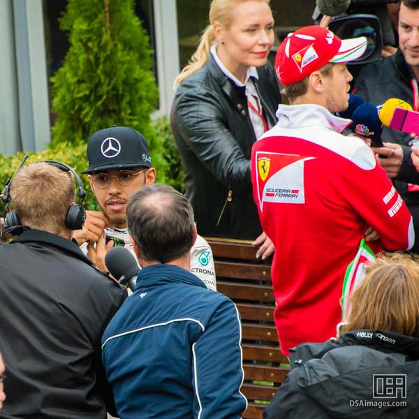 Lewis Hamilton (Mercedes) and Sebastian Vettel (Ferrari)
