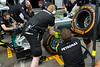 Mercedes pit stop practice