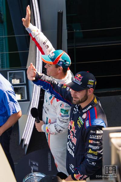 Shane van Gisbergen (Red Bull Racing Australia) and Craig Lowndes (Team Vortex)