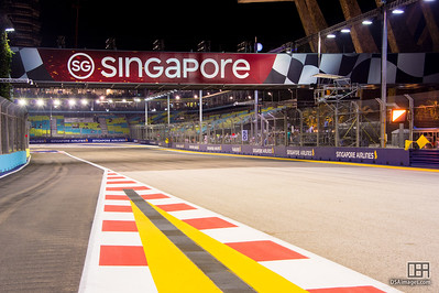 Pit straight to turn 1