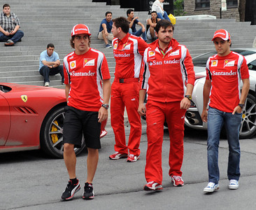 Alonso and Massa F1 gala