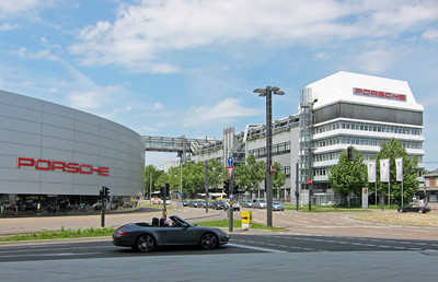 Porsche factory and center Stuttgart