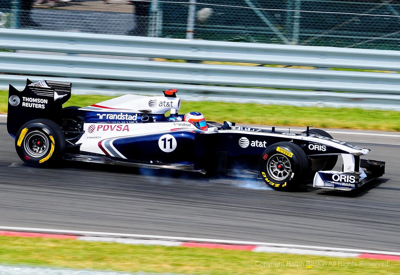 Rubens Barrichello Lock-up
