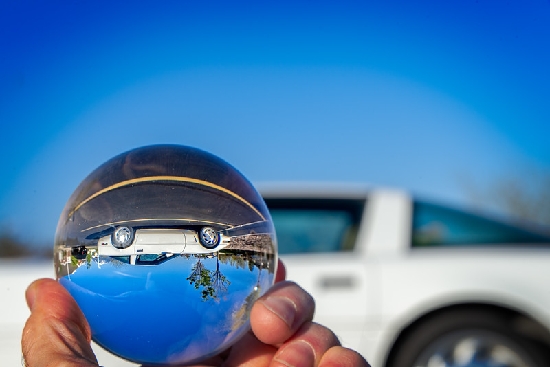 The same vette through a glass ball