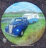 1938 Chev spare wheel cover by Dean Lawrence