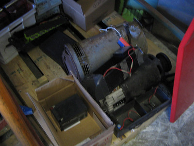 """The 9"""" GE series motor as it sat when I first saw it . This picture was taken a Thunderstruck motors in Santa Rosa, CA."""