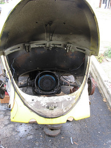 Engine Gone! ony the clutch plate remains.