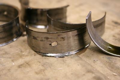 Rod bearings. #2 and #4 spun.