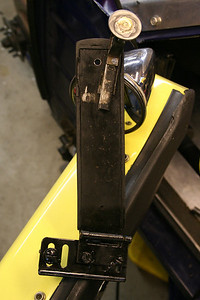 Move gas pedal to the left - new bracket Added large washer to throttle stop