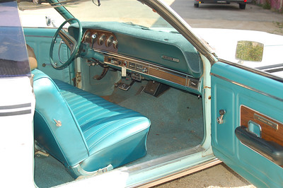 Before it was cleaned up.  For some reason, it has Fairlane 500 door panels on it.  These panels have been on the car a long time.  No idea what happened to the original door panels.