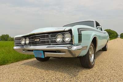 1969 Mercury Cyclone Fastback.  Refurbished hood and eyebrow trim.