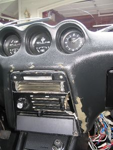 This heater control panel is cracked. I have a replacement panel ready to be installed. See the next photo.