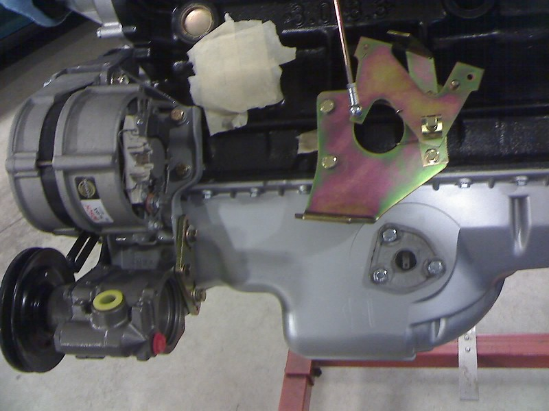The throttle bell crank was installed with the original carburetor throttle rod positions but was later changed as it was found to be far to sensitive for the ITB fuel injection.