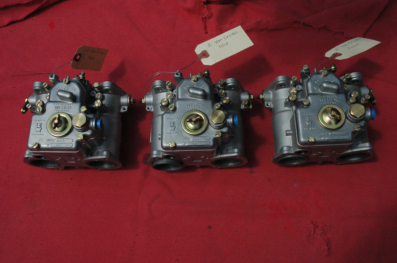 In anticipation of an engine rebuild/tweak, I purchased this trio of matched 40 DCOE Webers.