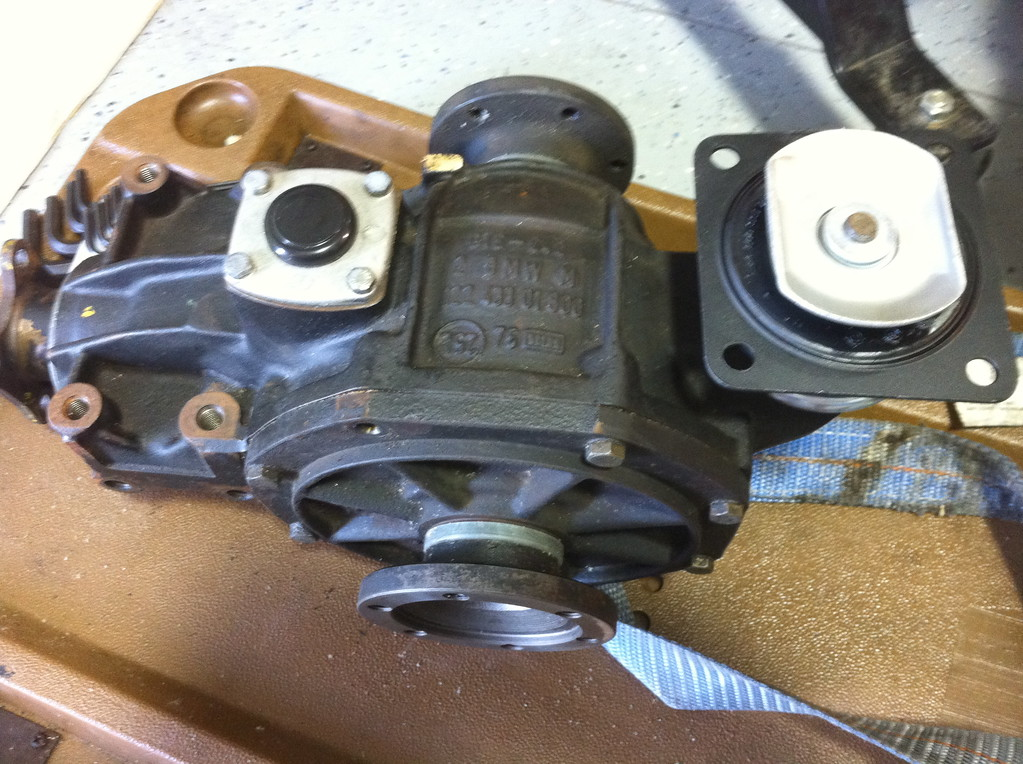 The limited slip differential was sourced from a California junk yard.