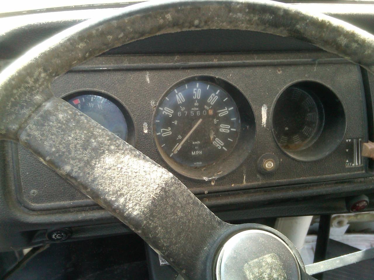 Wheel condition, bird droppings on dash,etc. Is 67k miles original?