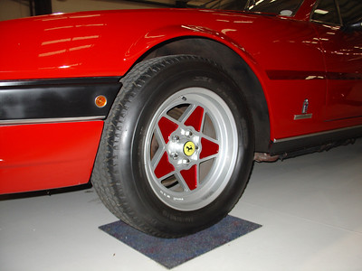 Wheel paint by Ferrari