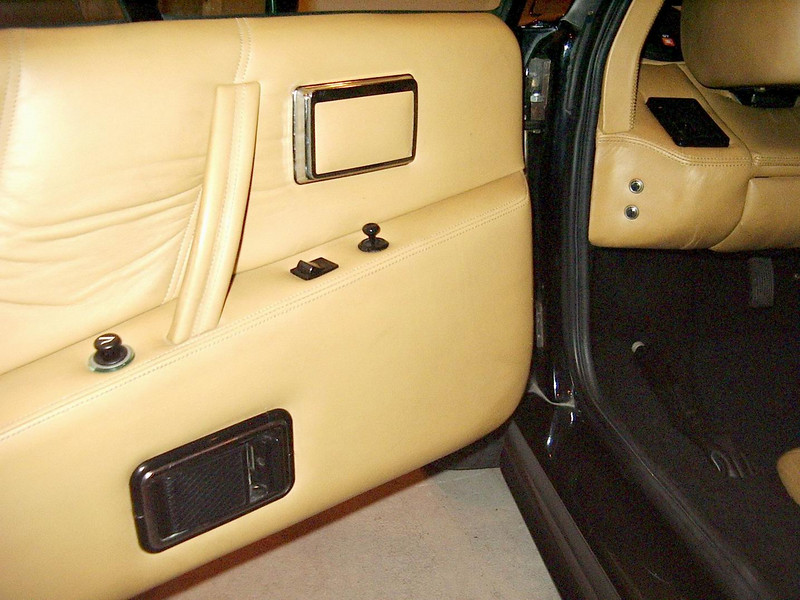 Full leathet door panels with a cigarette lighter that NEVER gets used.