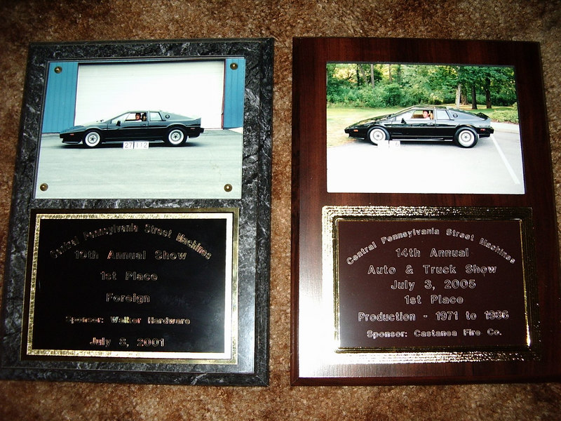 Two first place awards from the Central Pennsylvania car show.