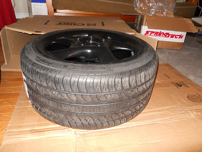 Mounted black wheels