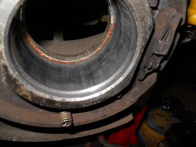 Removing rear hub and wheel bearing