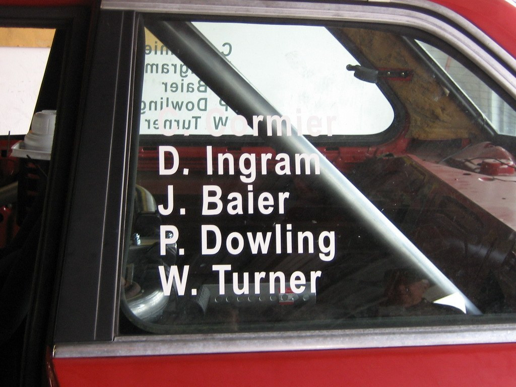Our drivers: Christian Cormier, Doug (Drew) Ingram, Jay Baier, Pat Dowling, and Will Turner