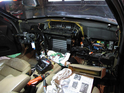 E36 heater core replacement. I found it easier to take the dash out...