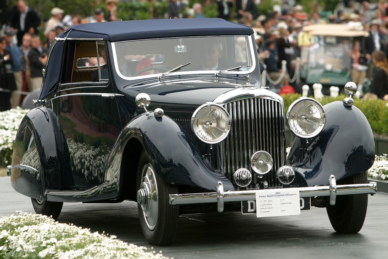 1937 Bentley 4 1/4 J. Gurney Nutting Drophead Coupe