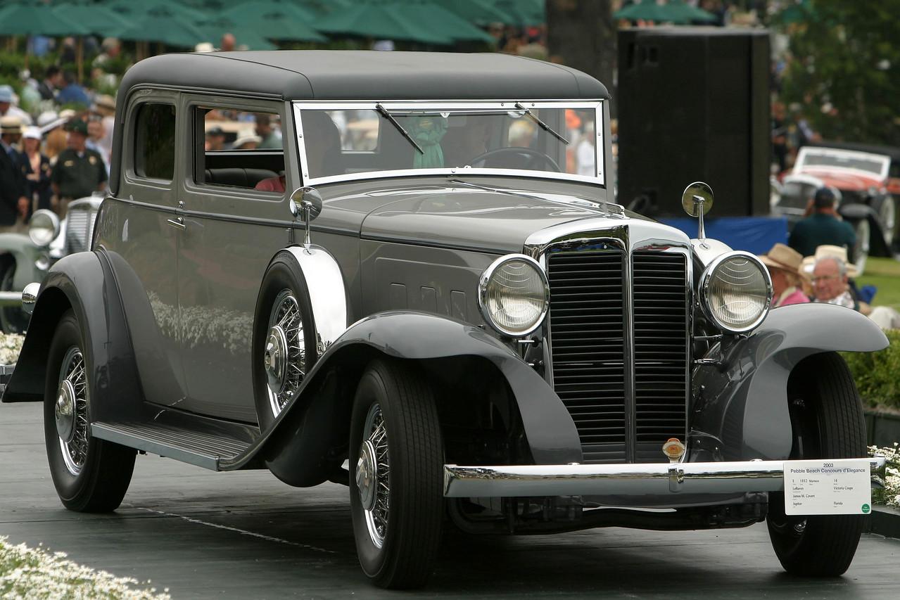 1932 Marmon 16 LeBaron Victoria Coupe
