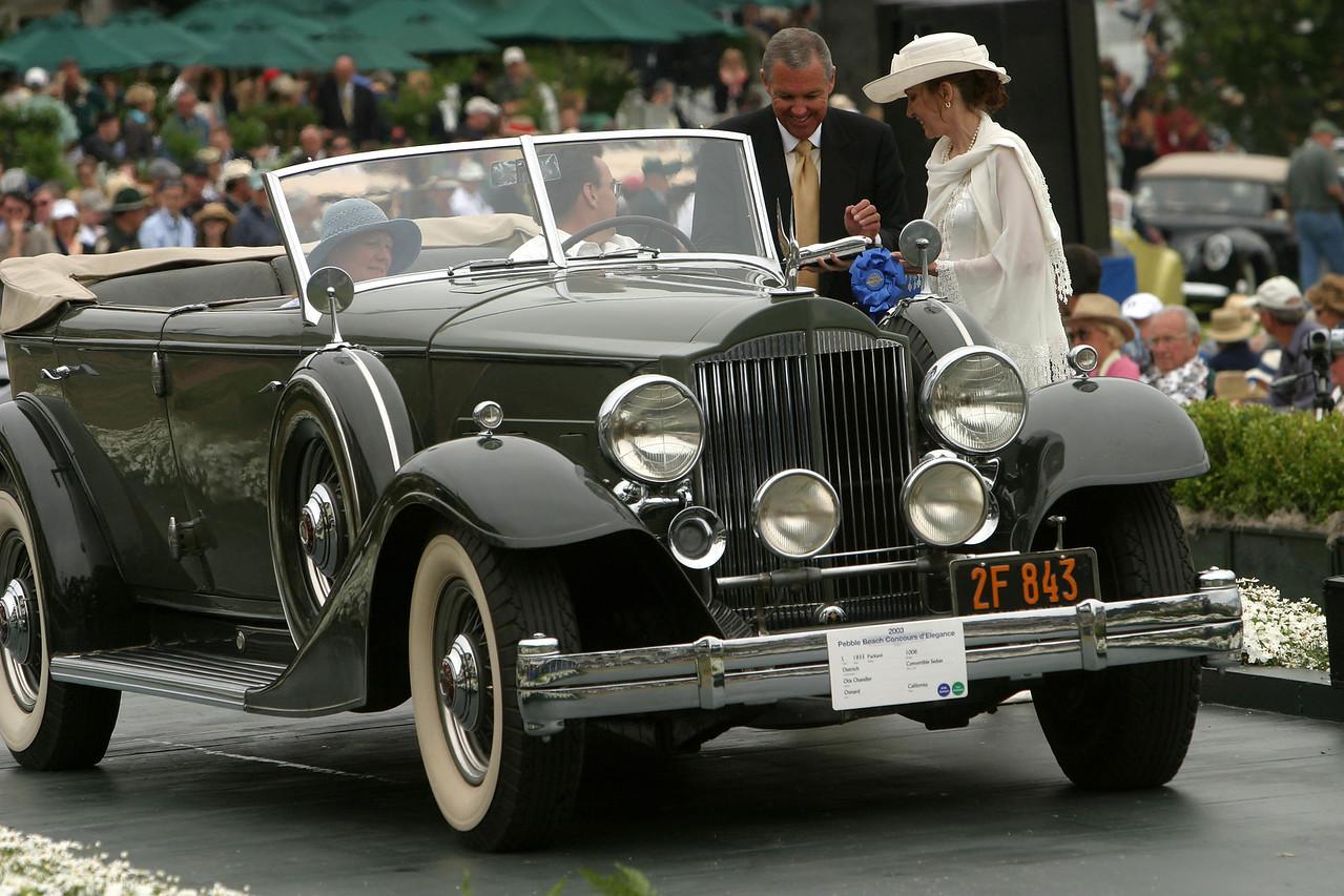 1933 Packard  1006 Dietrich Convertible Sedan