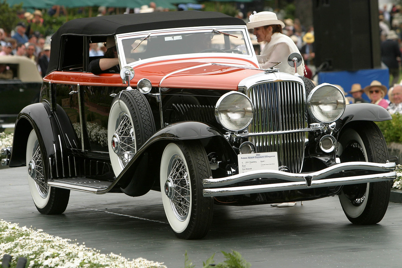 1934 Duesenberg Model J Brunn Convertible Phaeton Sedan Riviera