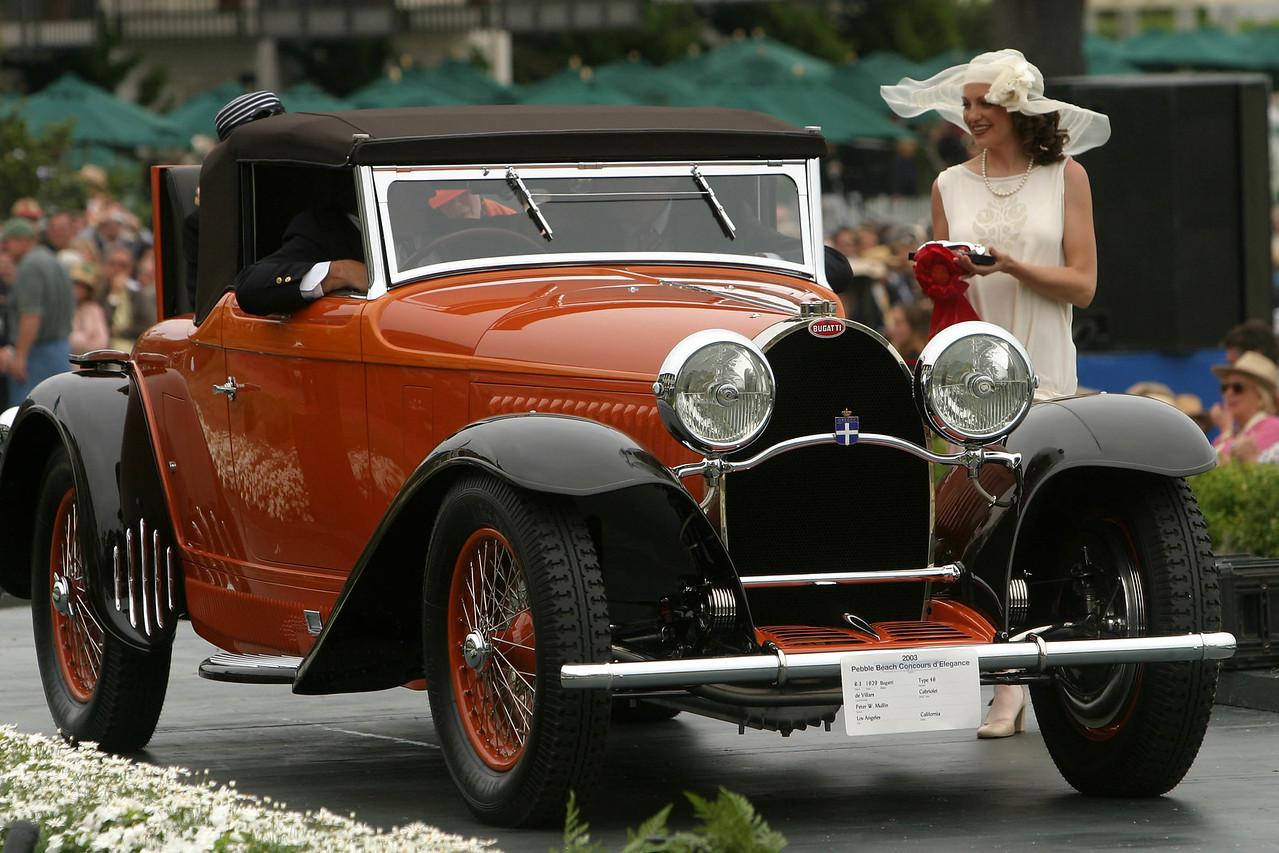 1929 Bugatti Type 46 de Villars Cabriolet