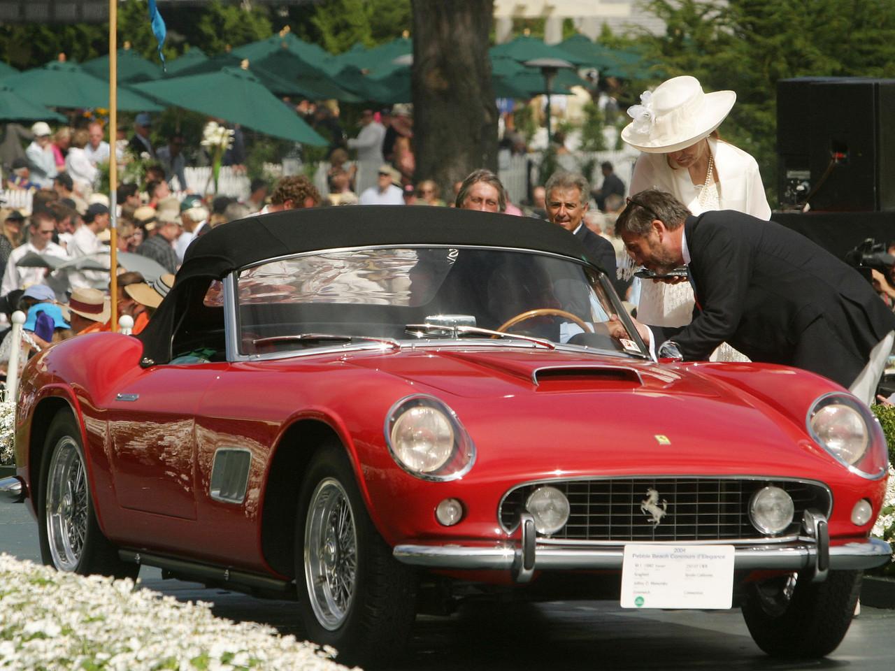 1960 Ferrari 250 GT LWB Scaglietti Spyder California.  Elegance in Motion Trophy.  Jeffrey D. Mamorsky.