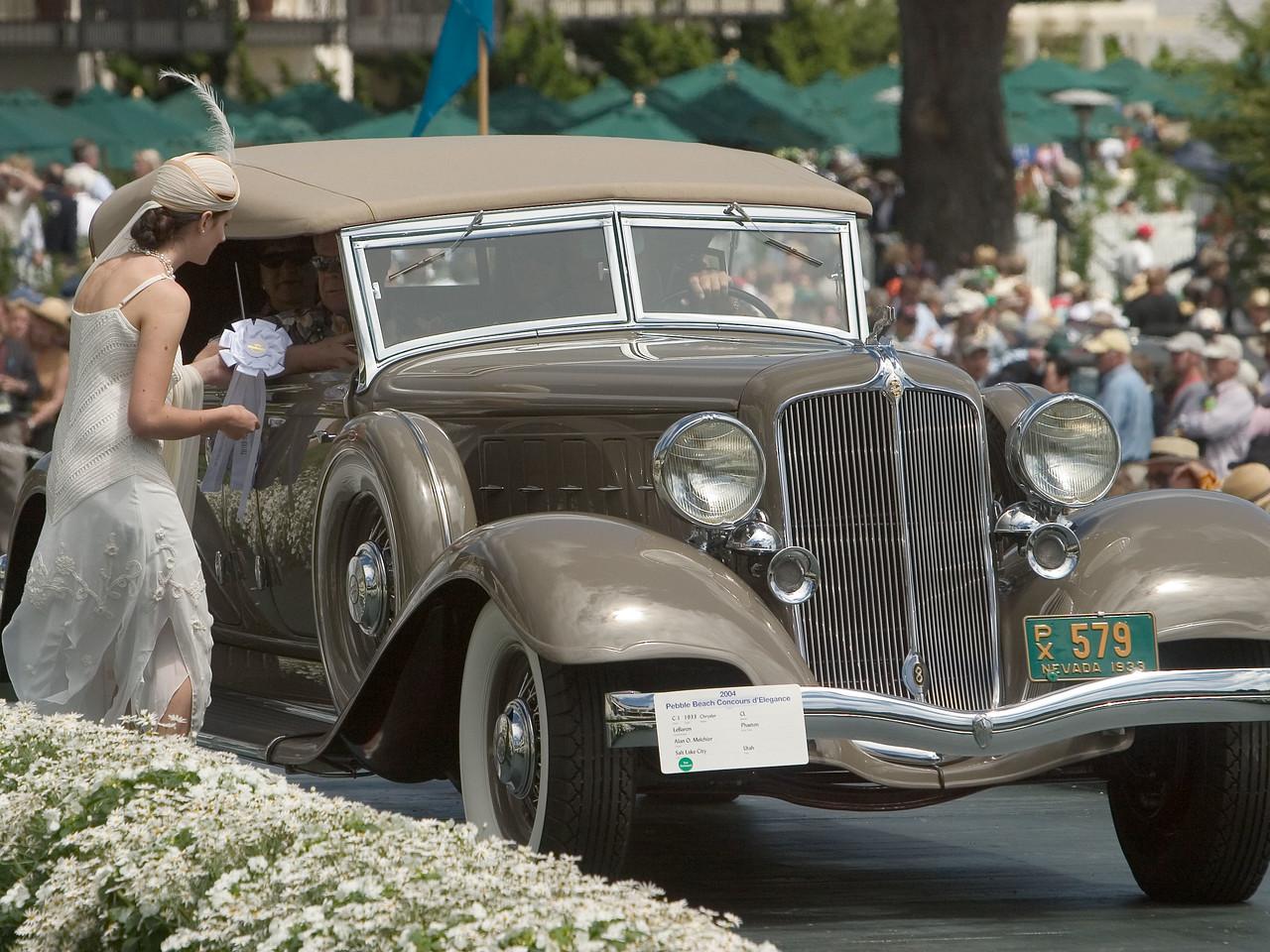 1933 Chrysler CL LeBaron Phaeton. 3rd American 1925-40 Open.  Alan Melchior.