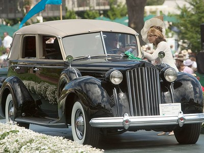1939 Packard 1708 Brunn All Weather Cabriolet. 3rd American 1925-41 Closed.  Barry and Sharon Briskman.