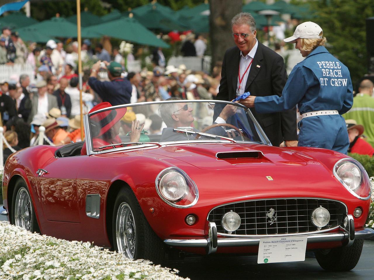 1962 Ferrari 250 GT SWB Scaglietti Spyder California. 1st Ferrari Open.  Larry Carter.