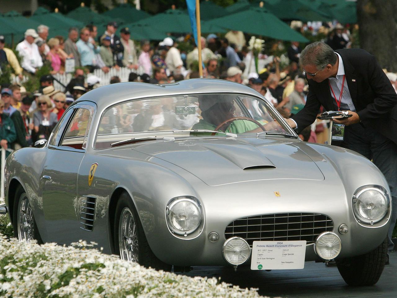 1957 Ferrari 250 GT Zagato Coupe Speciale. 3rd Ferrari Speciale Closed.  Lee and Joan Herrington.