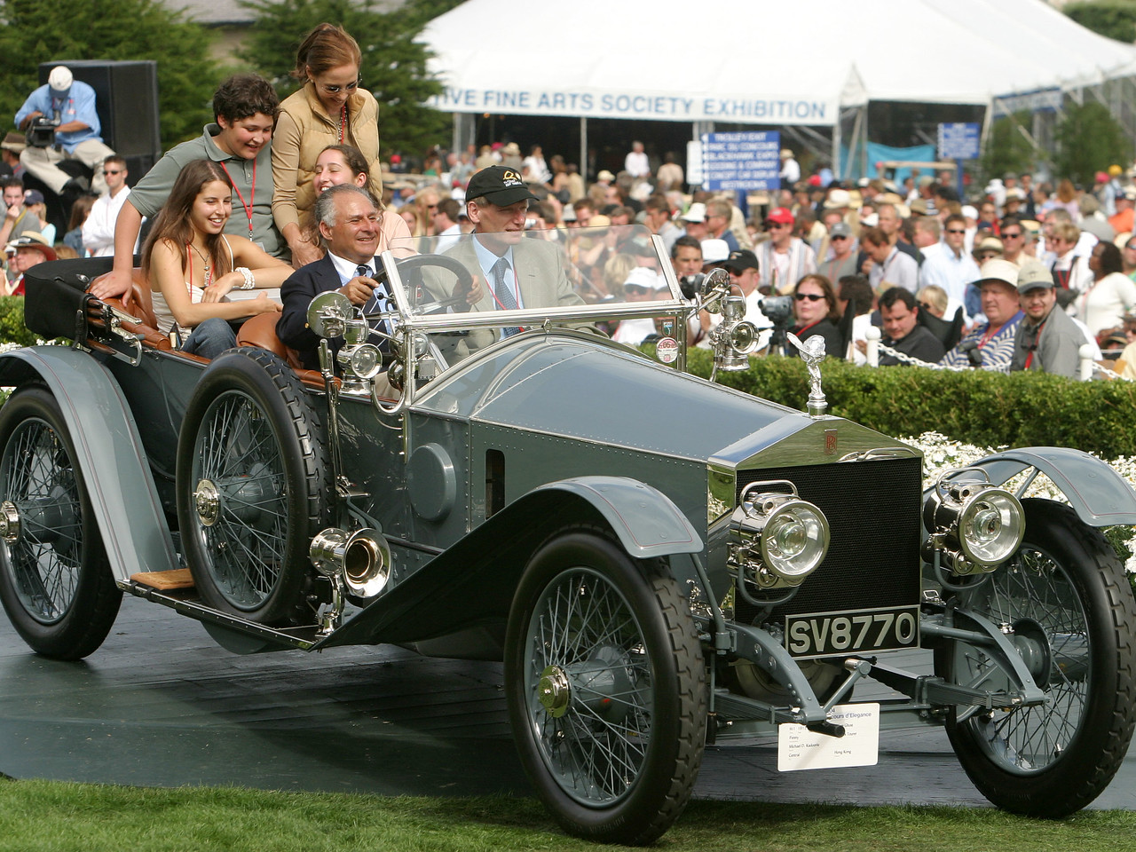 1912 Rolls-Royce Silver Ghost Penny Holmes Tourer.  Most Elegant Open Car Trophy.   Michael D. Kadoorie.