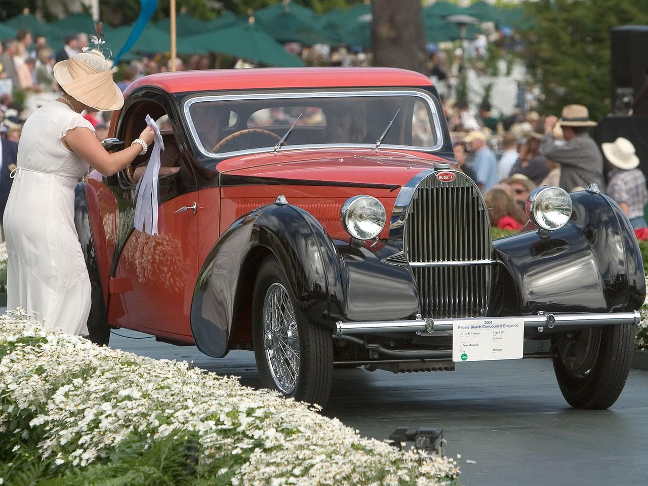 1937 Bugatti Type 57C Atalante. 3rd European 1925-39 Closed.  J. Peter Ministrelli