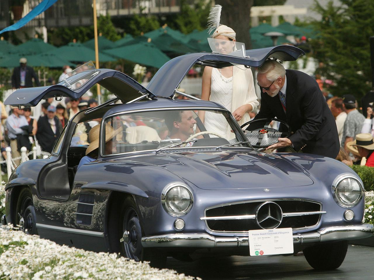 1955 Mercedes-Benz 300 SL Coupe.  Road & Track Trophy. Al Barbour.