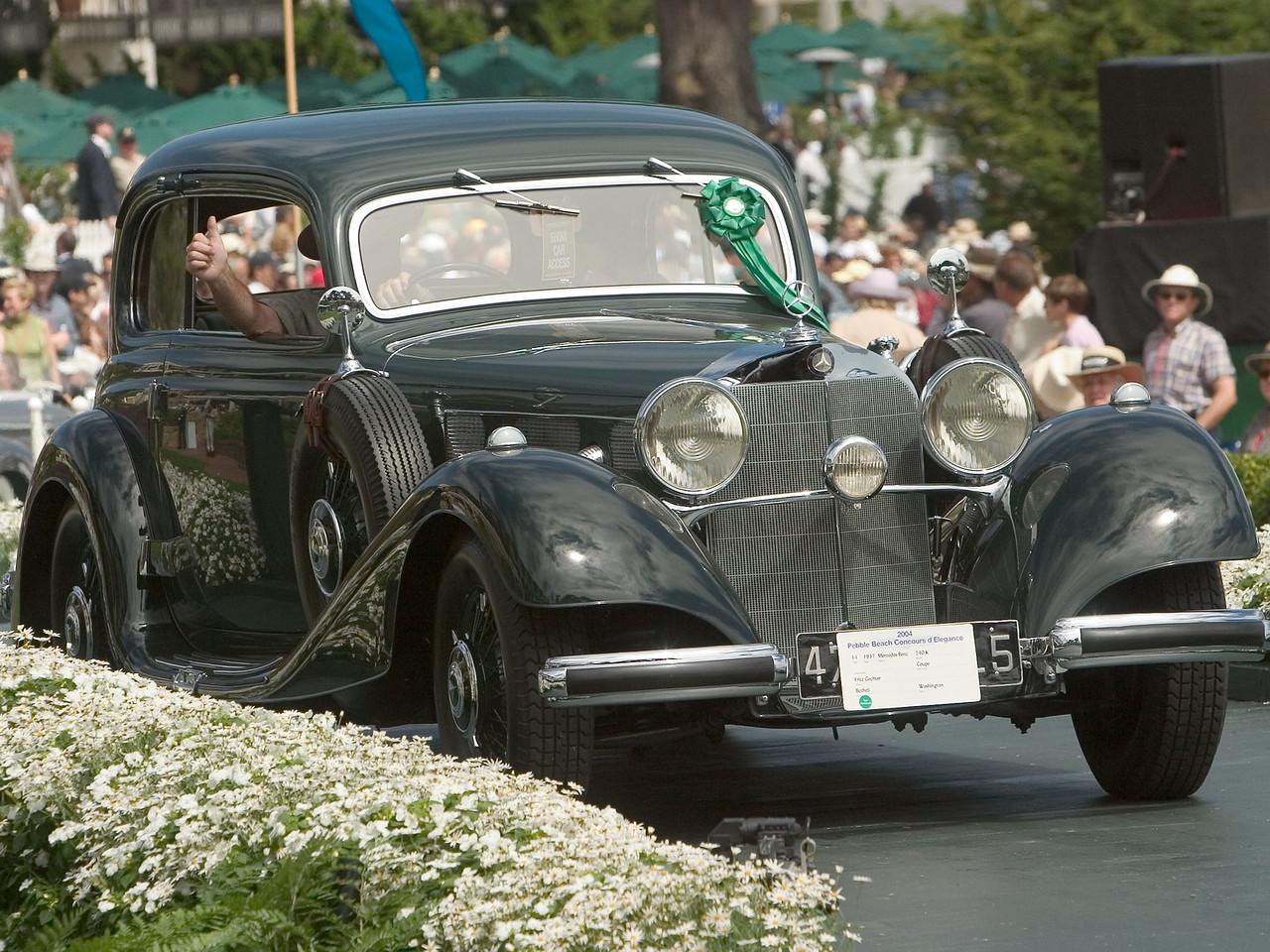 1937 Mercedes-Benz 540 K Coupe. 3rd Mercedes Prewar.  Fritz Gechter.